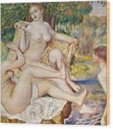 The Bathers Wood Print by Pierre Auguste Renoir