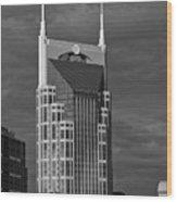 The Batman Building - Nashville Wood Print