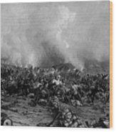 The Battle Of Gettysburg Wood Print by War Is Hell Store
