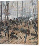 The Battle Of Shiloh Wood Print