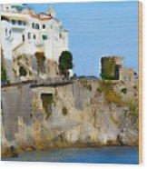 The Beach At Amalfi Wood Print