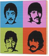 The Beatles Colors Wood Print