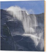 The Beautiful Bridalveil Falls Of Yosemite Wood Print