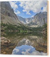 The Beautiful The Louch Lake With Reflection And Clear Water Wood Print
