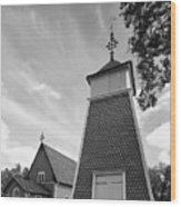 The Bellfry And The Church Of Kustavi Wood Print