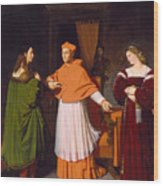 The Betrothal Of Raphael And The Niece Of Cardinal Bibbiena Wood Print