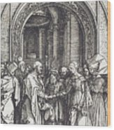 The Betrothal Of The Virgin Wood Print