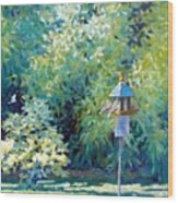 The Bird Feeder Wood Print