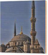 The Blue Mosque In Istanbul Turkey Wood Print