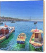 The Bosphorus Istanbul Wood Print