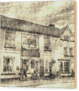 The Bull Pub Theydon Bois Vintage Wood Print