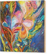 The Butterflies Wood Print by Elena Kotliarker
