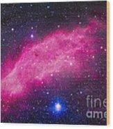 The California Nebula Wood Print