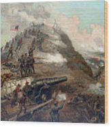 The Capture Of Fort Fisher Wood Print
