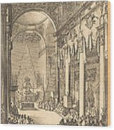 The Catafalque Of The Emperor Mathias Wood Print