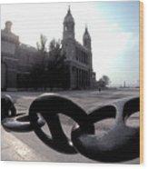The Chain In Spain Wood Print