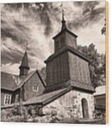 The Church Of Fagervik Wood Print