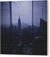 The City Below Wood Print