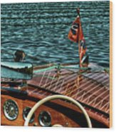 The Classic 1958 Chris Craft Wood Print