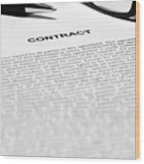 The Legal Contract Wood Print