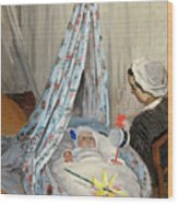 The Cradle - Camille With The Artist's Son Jean Wood Print