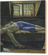 The Death Of Chatterton Wood Print