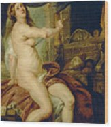 Panthea Stabbing Herself With A Dagger After The Death Of Her Husband Abradates Wood Print