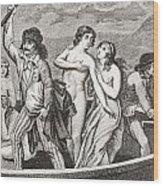 The Drownings At Nantes. A Series Wood Print