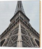 The Eiffel Tower In Paris Wood Print