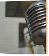 The Elvis Mic Wood Print by JAMART Photography