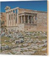The Erechtheum On The Acropolis, Athens, Greece Wood Print