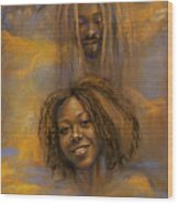The Faces Of God Wood Print by Gary Williams