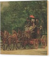 The Fairman Rogers Coach And Four Wood Print by Thomas Cowperthwait Eakins
