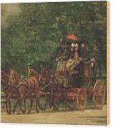 The Fairman Rogers Coach And Four Wood Print