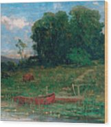 The Farm Landing Wood Print