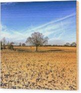 The Farm Tree Wood Print