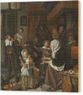 The Feast Of St. Nicholas Wood Print