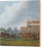 The Finish Of The St. Leger Stakes Wood Print