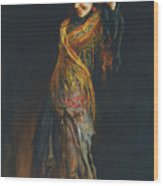 The Flamenco Dancer Wood Print