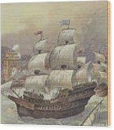 The Fleet Of Jean Ango Blocks The Tagus Wood Print