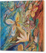 The Flowers And The Fruits Wood Print