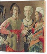 The Fortune Teller Wood Print by Georges de la Tour