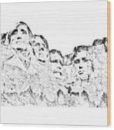 The Four Presidents Wood Print
