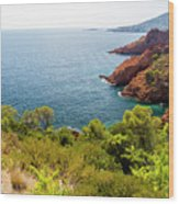 The French Riviera  Wood Print