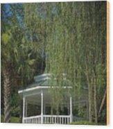 The Gazebo Wood Print
