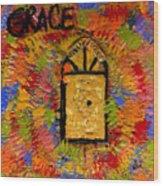 The Golden Door Of Grace Wood Print