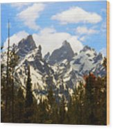 The Grand Tetons Wood Print
