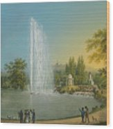The Great Fountain Wood Print