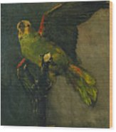 The Green Parrot Wood Print