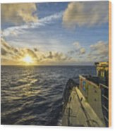 The Guided-missile Cruiser Uss Monterey Wood Print